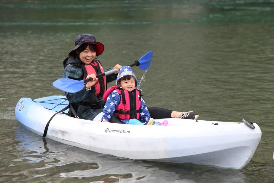 10月 はんもっく(木曜日) 鮎喰川でカヌー