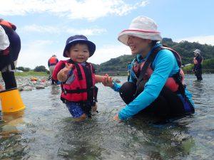 7月 はんもっく(木曜日) 鮎喰川で川遊び