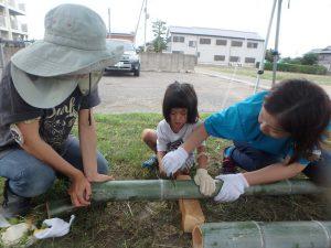 9月 はんもっく(水曜日) 竹でごはんを炊こう