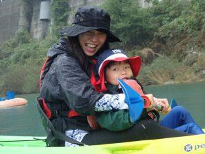 10月 はんもっく(水曜日) 鮎喰川でカヌー