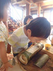 9月 はんもっく(木) 竹でごはんを炊こう