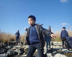 1月水辺の教室 第十堰探検!