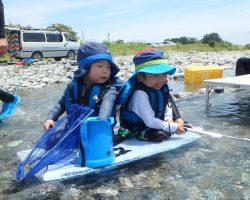 7月 はんもっく(水曜日) 鮎喰川で川遊び