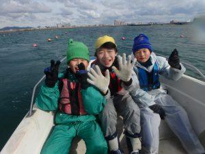 12月水辺の教室 すじ青のり漁を体験!