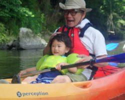 6月 はんもっく 春の川でカヌー!